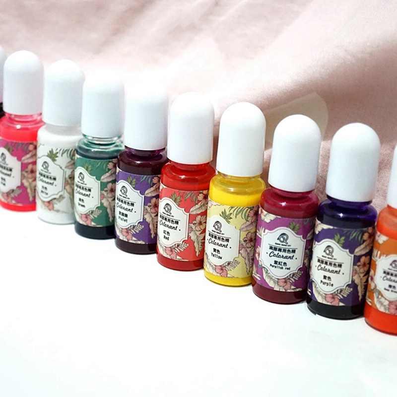 10ML di Resina Epossidica Pigmento UV Resina Coloring Colorante Colorante Pigmento Resina FAI DA TE Fatti A Mano Artigianato Attrezzature per Arte 13 Colori