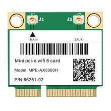 2974mbps wi-fi banda dupla 6 cartão meia mini pci-e placa de rede sem fio wi-fi à internet sem fios bluetooth 5.0 802.11ax/ac 2.4ghz/5ghz adaptador MU-MIM