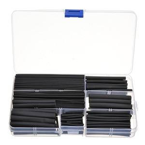 150 шт., термоусадочная трубка из полиолефина, термоусадочная трубка, набор, черный