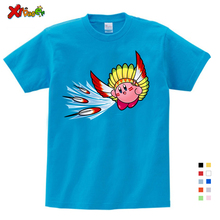 2019 Cute Kirby Girl T Shirt Game Kids T-shirts Kirby Star Allies Characters Children Summer Tops Boy Cartoon Anime Pink Pattern cute kirby girl star hoodies kids game hoodies sweatshirts allies characters children winter long sleeves tops pink sweatshirts