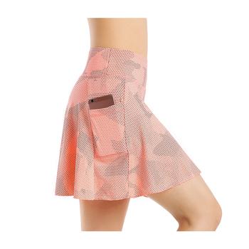EAST HONG damska kieszeń tenisowa spódnica sportowa Golf Running Skort Active Athletic Yoga Fitness spódnice tanie i dobre opinie WOMEN Poliester spandex CN (pochodzenie) Skorts Pasuje prawda na wymiar weź swój normalny rozmiar 176-18-3 5 6 8 9