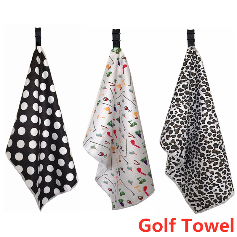 Golf Towel Clip Hook Microfiber Rack Women Quick-Dry Club Ball Clean Towels 1 Pc Fitness Sports Swimming Running Drop Shipping