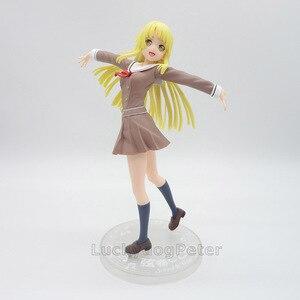 Image 3 - Anime 1/8 échelle peint Figure BanG rêve! Fête des filles! Bonjour Ver du monde heureux. Jouet figurine en PVC Kokoro Tsurumaki 21CM
