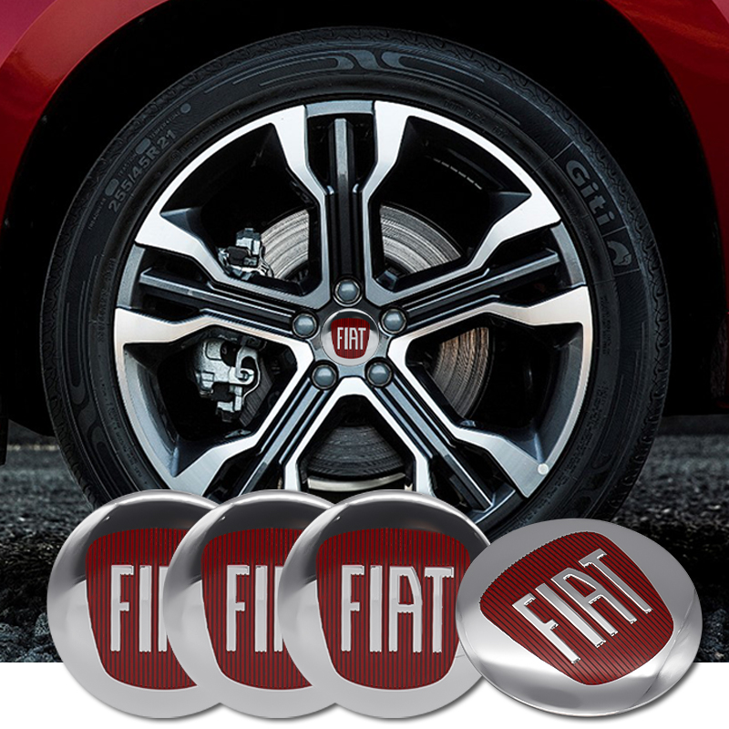 4Pcs 56mm Car Tire Cover Decal Wheel Center Hub Cap Sticker For Fiat 500 500X Ducato Tipo Panda Bravo Stilo Doblo Freemont