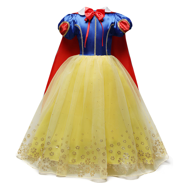 4-10T Fancy Princess Dress Baby Girl Clothes Kids Halloween Party Cosplay Costume Children Elsa Anna Dress vestidos infantil 3