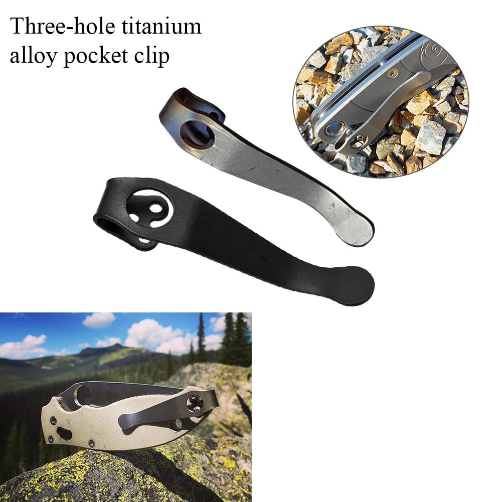 Back Portable Deep Carry DIY Durable Practical Accessories Solid Waist Tool Titanium Alloy Pocket Clip For C81 C10 C11 3-Hole