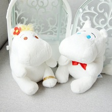 13cm Hippo Moomin animal figure Cartoon plush Movie & TV Stuffed plush doll PP cartoon filling white cute soft kids gift стоимость