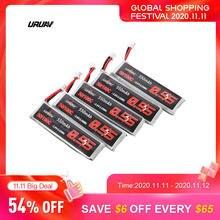 5 pces/10 pces uruav 3.8v 550mah 50/100c 1s hv 4.35v ph2.0 lipo bateria para emax tinyhawk kingkong/ldarc minúsculo rc zangão peça de reposição