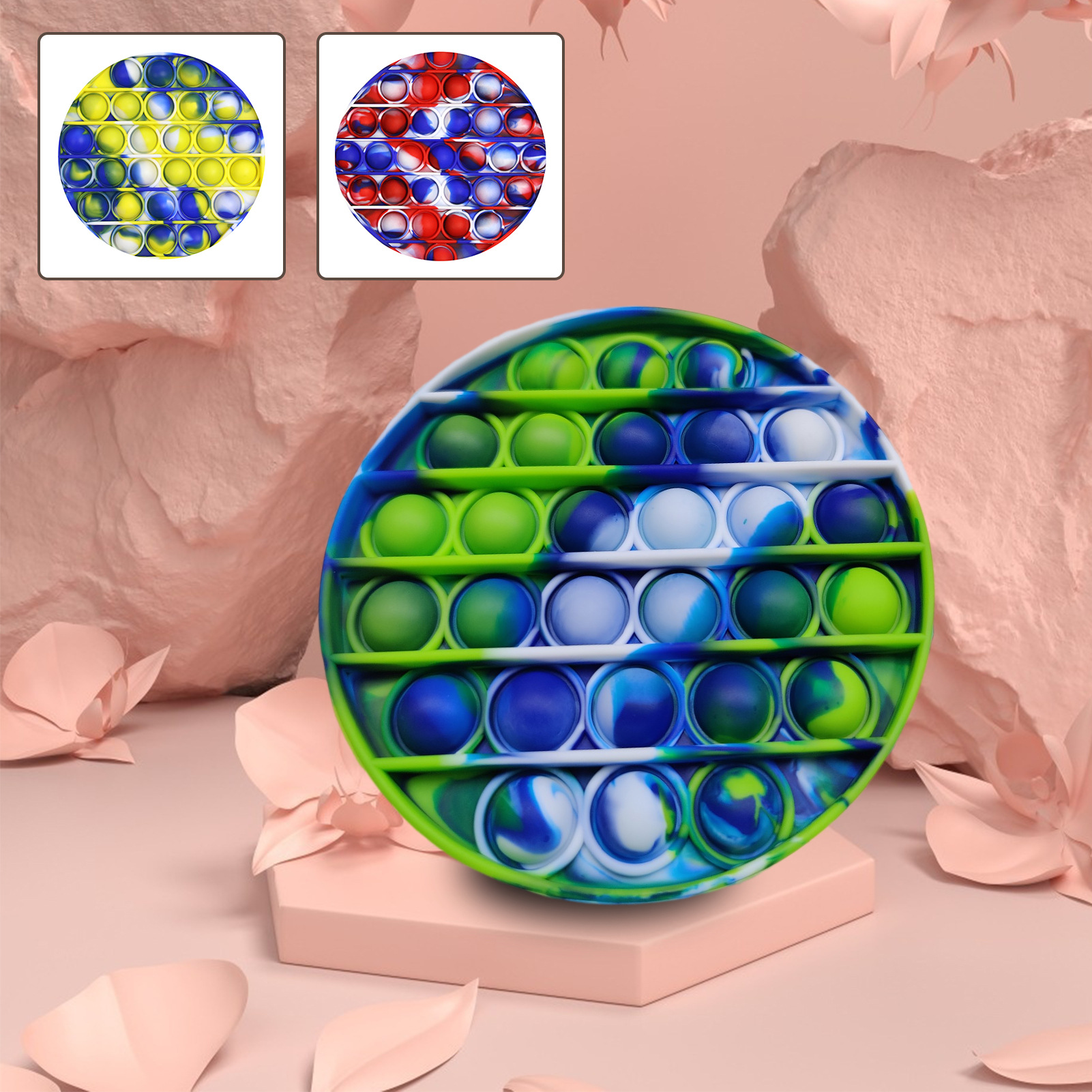 Kids Toys Figet Bubble-Sensory Squishy Pops Special Needs It-Push Silicone Stress Reliever img2