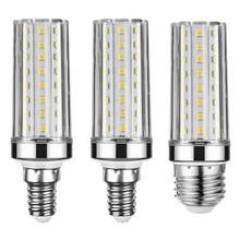 Super lange levensduur E27 E14 12W 16W 20W 24W LED lamp Corn Bulb AC85-265V Geen Flikkering 2835 SMD LED licht/verlichting(China)