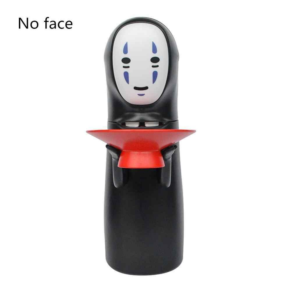 לא-פנים כסף תיבת המסע מופלא Kaonashi לא-פנים פיגי בנק צעצוע אוטומטי לאכול מטבע בנק כיף חג המולד מתנת קריקטורה חזירון בנק