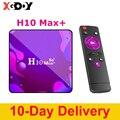 Новый H10 Max plus Смарт ТВ коробка Android 10,0 Декодер каналов кабельного телевидения H313 4 ядра 64Bit, 2 Гб оперативной памяти, 16 Гб встроенной памяти, Вс...