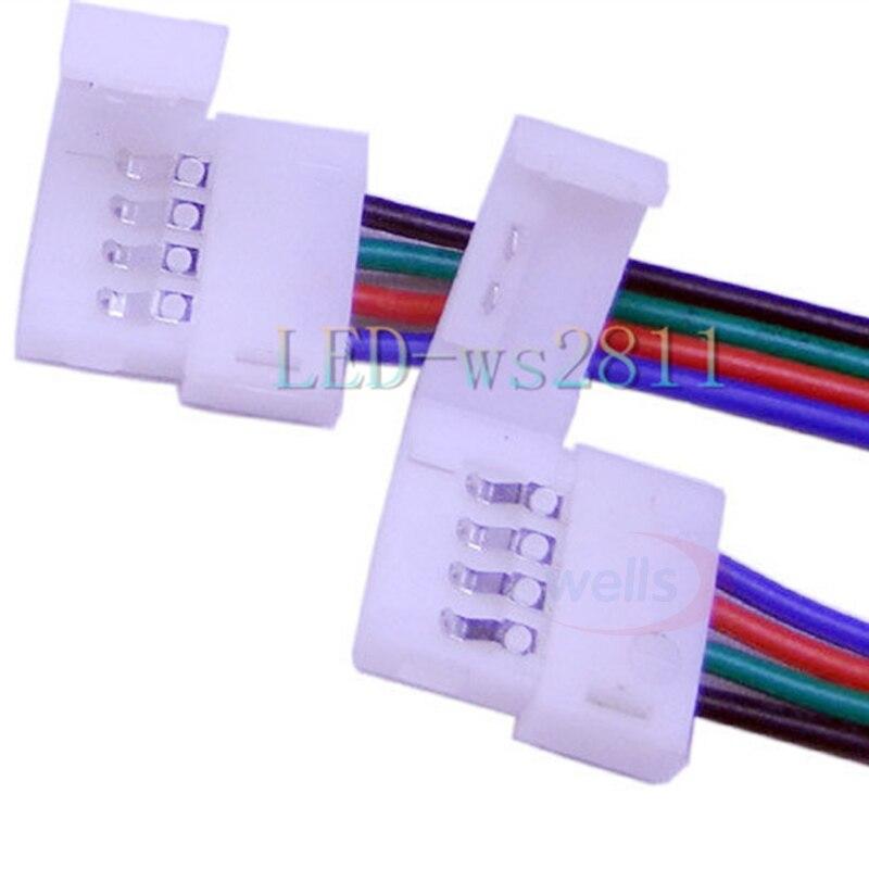 Бесплатная доставка 1 шт. 1 м 4pin JST Удлинительный кабель/LED RGB кабель провод удлинитель LED SMD 5050 RGB полоса света разъем