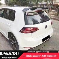 For Volkswagen GOLF 7 MK7 Spoiler 2014 2018 mk7.5 golf G ti gtd R TG ABS Material Car Rear Wing Primer Color Rear Spoiler