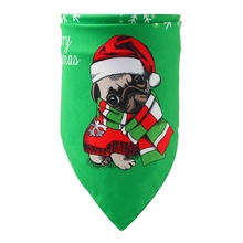 Pet Christmas Pattern Scarf Dog Cat Triangular Cartoon Bandana Cotton Collars For Small Medium Large Dogs Cats