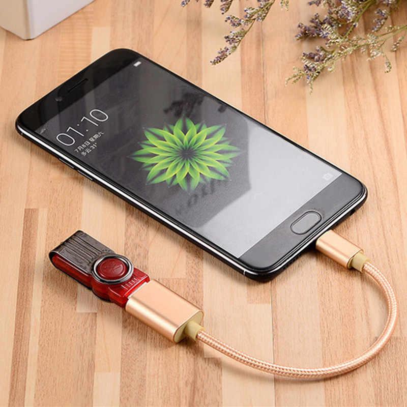 1 قطعة المصغّر USB كابل OTG إلى USB محول OTG شحن مايكرو شاحن البيانات محول الكابل ل شاومي لسامسونج لهواوي