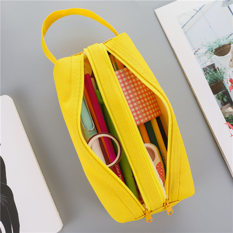 1 PC Large Capacity Fabric Pencil Cases Bags Pouch Creative Pen Box Case School Office Stationary Supplies 05089