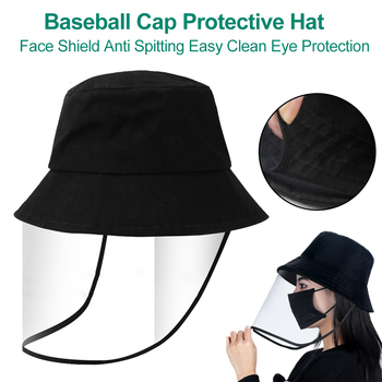 Transparent Anti Spitting PVC Protective Hat Face Shield Travel Easy Clean Eye Protection Outdoor Baseball Cap Saliva Isolation