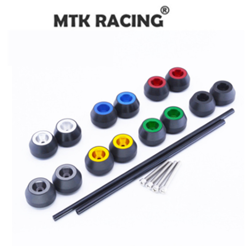 MTKRACING CNC Modified Motorcycle drop ball / shock absorber  for YAMAHA MT-09 2013 2014 2015 2016 MT 09 crash bar mt 09