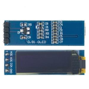"""Image 2 - 10 adet 0.91 inç OLED modülü 0.91 """"mavi OLED 128X32 OLED LCD LED ekran modülü 0.91"""" IIC iletişim D34"""
