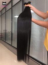 Pacotes retos rucycat remy feixes de cabelo humano 30 Polegada pacotes tecer cabelo brasileiro feixes 40 Polegada pacotes 1/3/4 pçs pacotes