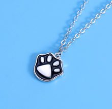 New Cute Cat's Claw Pendant Necklace Fashion Cartton Cat Claw Necklace For Women Girls Party Fine Jewelry Accesories Wholesale