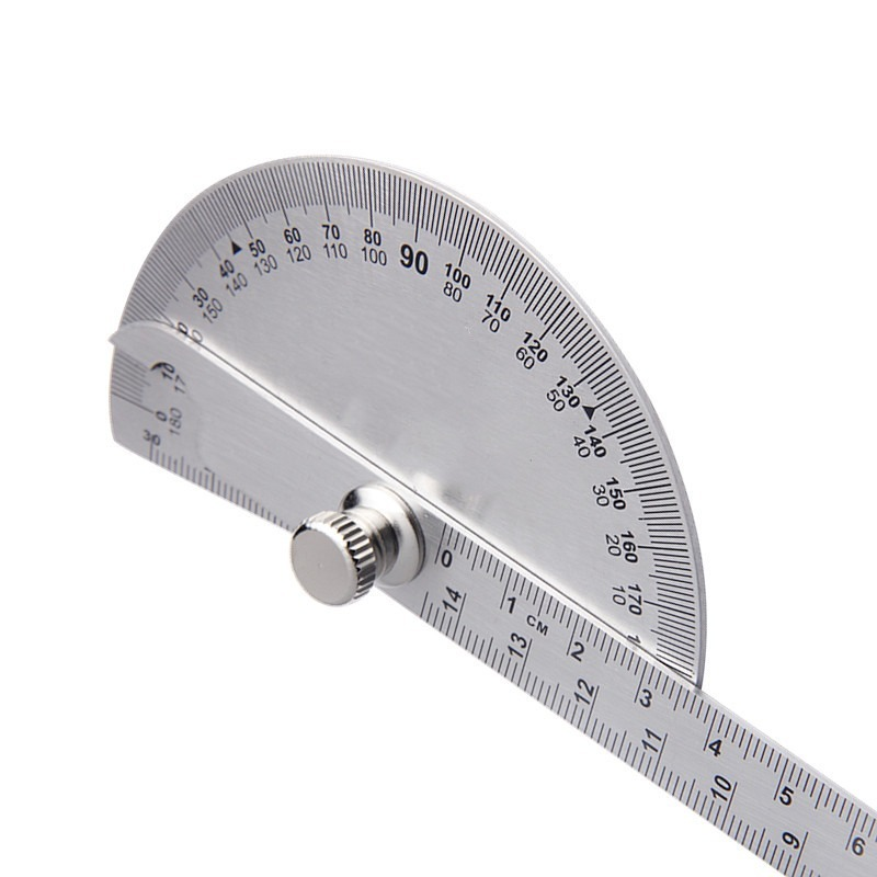 140mm 180 Degree Adjustable Protractor Stainless Steel Measuring Tool for Woodworking