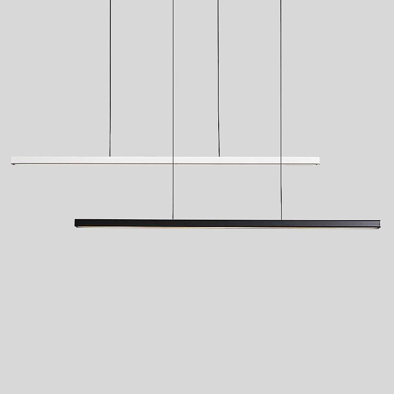 BRIDAY LED Minimalist Pendant Lamp Droplight Wooden Line Modern Simple Office Dining Room Cafe Bar Chandelier Creative Nordic St