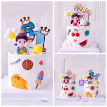 Baby Shower Cake Topper Decorations Cute Cartoon Soft Pottery Wedding Couple Anniversary Birthday Party Cupcake Baking Supplies