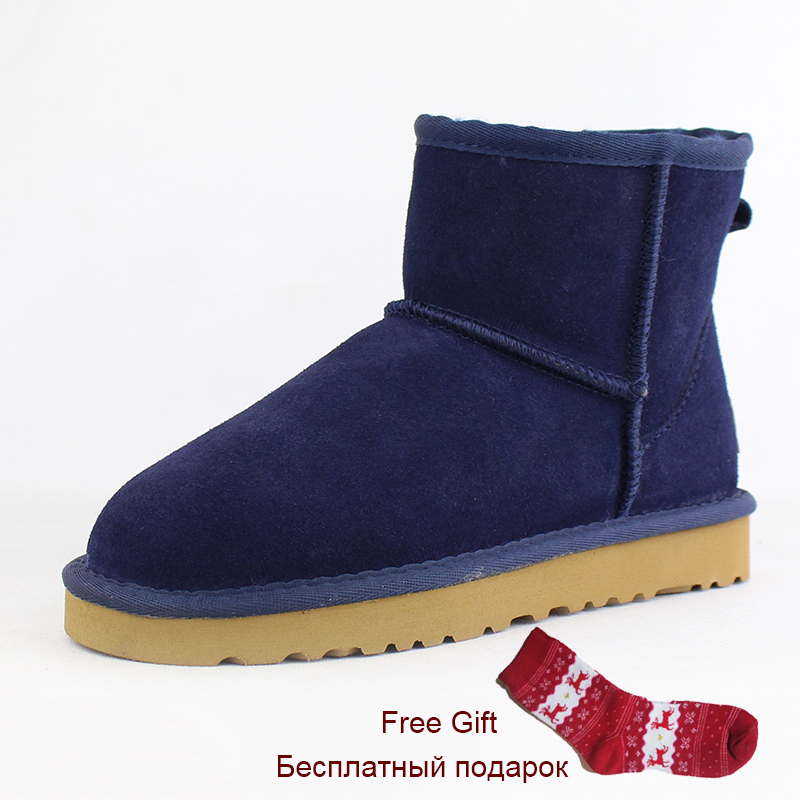 New Top Quality Australia Classic Women Snow Boots 100% Genuine Cowhide Leather Ankle Boots Warm Winter Boots Woman Shoes