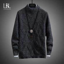 Suéter de algodón de Cachemira para hombre, sudadera tipo bata, Jersey de punto con cuello redondo, otoño e invierno, 2020