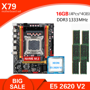 Kllisre X79 chipset motherboard LGA2011 Mini-ATX combos E5 2620 V2 CPU 4pcs x 4GB = 16GB DDR3 1333Mhz ECC Memory(China)