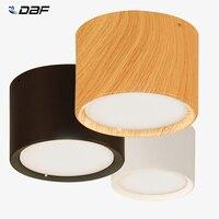 [DBF] luces de techo Epistar CREE de gran brillo 3W 5W 7W 10W 12W 15W superficie de madera nórdica foco de montaje para el techo para Bar Cocina
