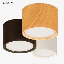 [DBF] высокий яркий потолочный светильник Epistar CREE s 3W 5 Вт 7 Вт 10 Вт 12 Вт 15 Вт скандинавский деревянный потолочный Точечный светильник для кухни