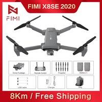 FIMI-Dron X8 SE 2020 RC con cardán de 3 ejes, cuadricóptero 8K, cámara RTF, helicóptero HDR, GPS, FPV, 33 minutos de vuelo, batería de carga, bolsa de hombro
