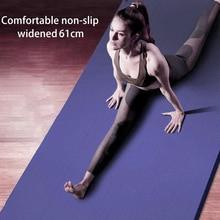 Esterillas de Yoga con línea corporal de 183x61x1,5 cm alfombrillas gruesas para Yoga, Pilates, gimnasia, almohadilla de equilibrio, alfombra plegable para hacer ejercicio