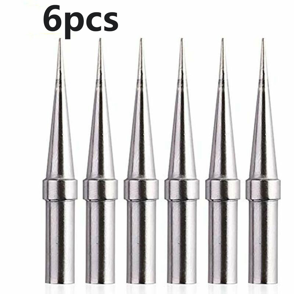 6pcs ETO <font><b>Weller</b></font> ET <font><b>Soldering</b></font> <font><b>Iron</b></font> Replacement Tips For WES51/50 WESD51 WE1010NA Durable And Reliable image