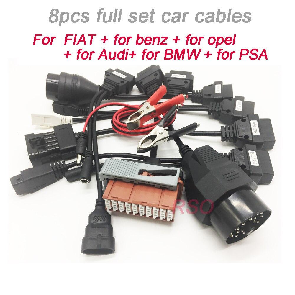 Super Car Cables For TCS  Pro PLUS OBD2 Cars Diagnostic Interface Tool Diagnose Adapter Full Set 8pcs Car Cables Factory Price