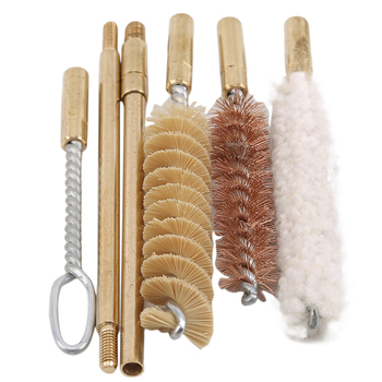 High Quality 7pcs/set 9 Mm Pocket Size Pistol Professional Gun Cleaning Kit Hand Gun Rod Brush Cleaning Tools image