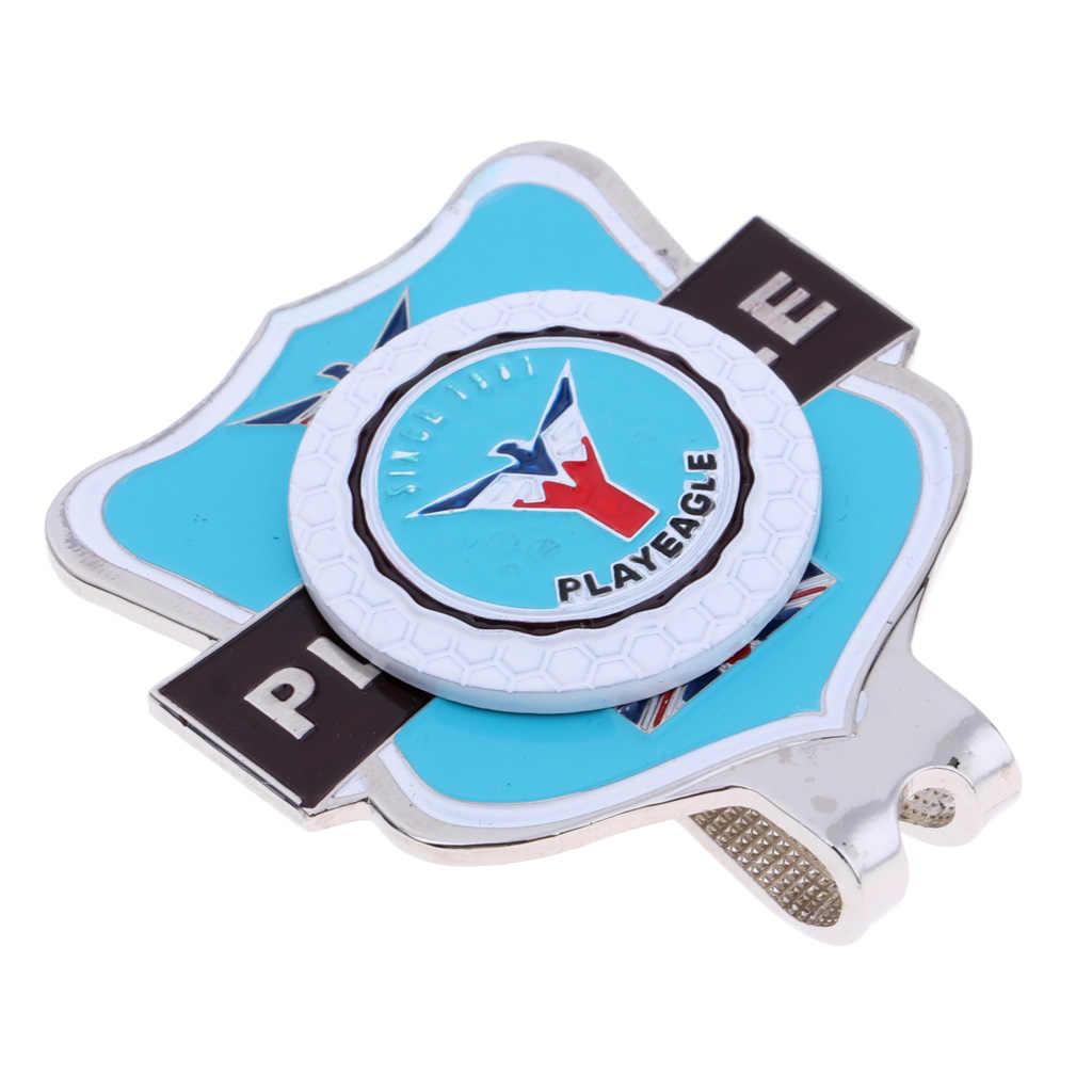 25 ミリメートル/0.98 インチ磁気ゴルフボールマーカーと 1.8 × 1.6 インチゴルフ帽子キャップクリップブローチクラブプレゼントの記念のお土産