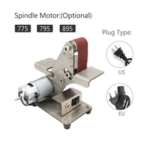 40~90W Mini Electric Belt Machine Sander Sanding Grinding Polishing Machine Abrasive Belts Grinder DIY Polishing Cutter Edges