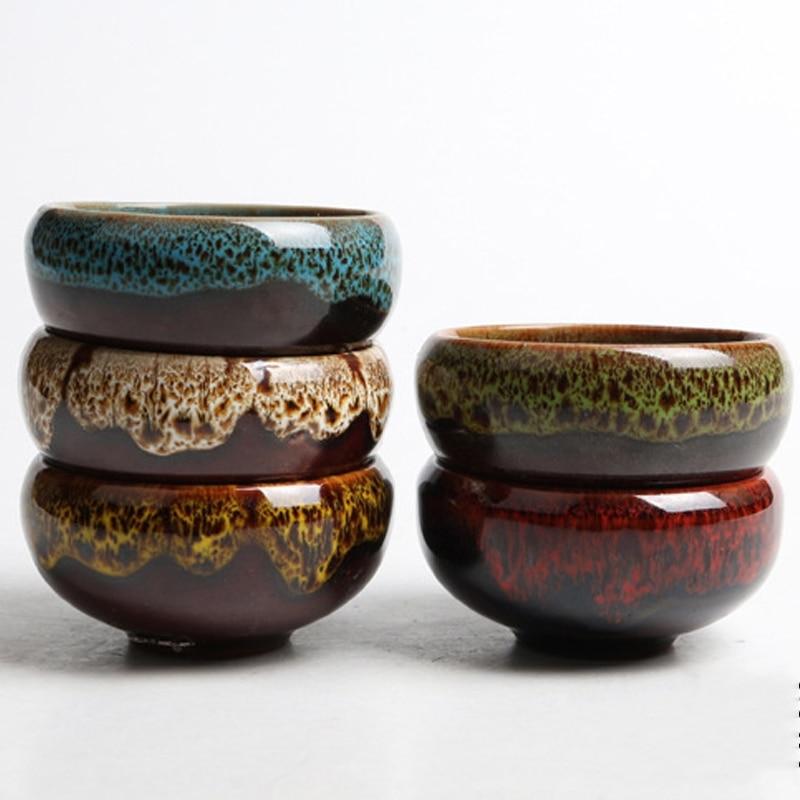 Ice-Crack Flower Wicker Ceramic Plant Pots Decorative For Juicy Plants Small Bonsai Pot Home Garden Mini Succulent Plant Pot