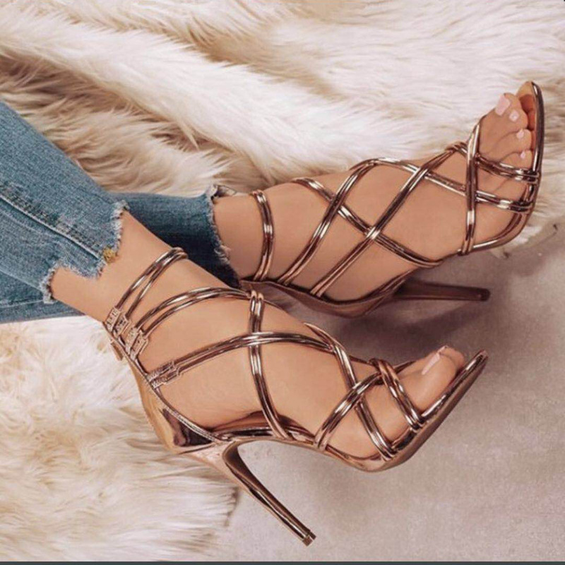 Women's High Heel Sexy Sandals High Heels Women's High Heels Summer Women's Shoes Women's Fashion Open Toe Sandals Stilettos Wed