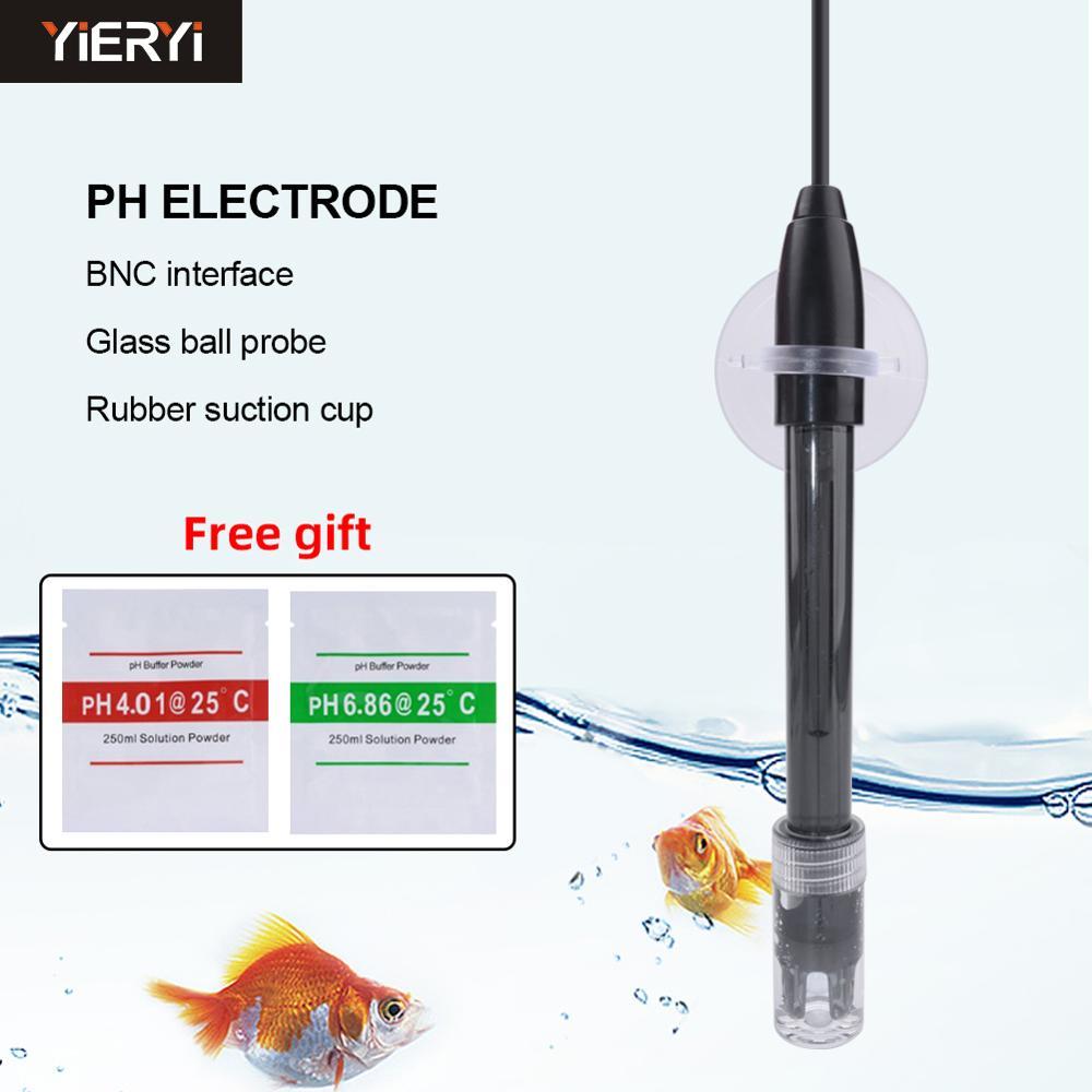 Yieryi PH Controller Meter Sensor Gip PH Electrode Probe BNC Connector For Aquarium Hydroponic Laboratory