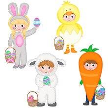 Craft Die Cutting-Dies Scrapbook-Decorations Easter Bunny Girl DIY New