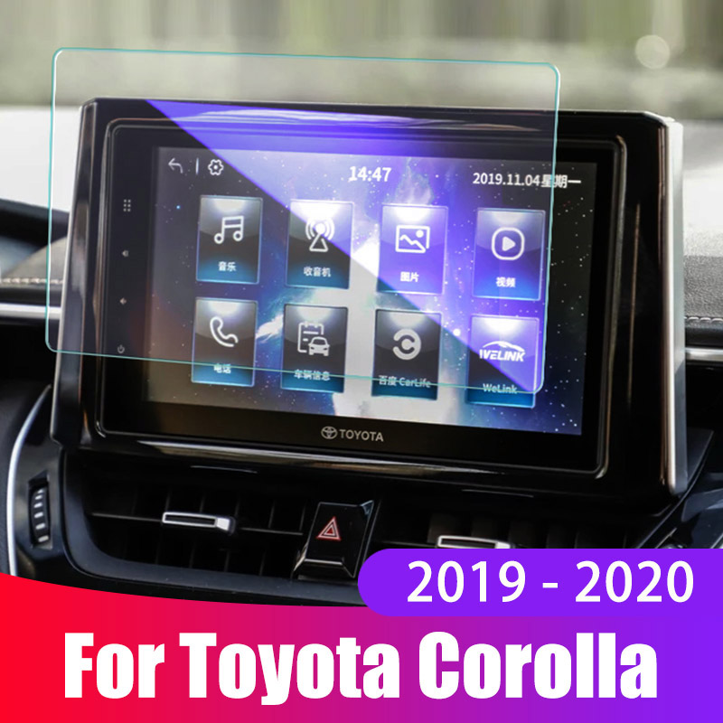 Car Screen Protective Film For Toyota Corolla 2019 2020 Accessories Car Navigation Screen Tempered Glass Protector Cover Sticker