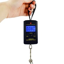 Mini Digital Scale Libra Electronic Weight Balance Digitals for Fishing Kitchen Hanging Scales  Steel Hook LCD screen Display