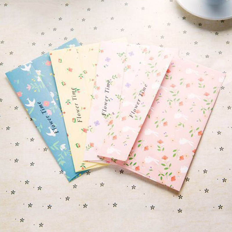 Creative Retro Cartoon Small Floral Sweets Envelope Letter Set 6 Pcs Letter Paper+3 Pcs Envelopes Set Office School Supplies