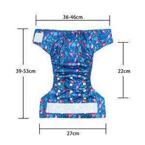Image 5 - (10 Stks/partij) Gelukkig Fluit Klittenband Os Pocket Doek Luier, Met Twee Zakken, waterdicht En Ademend, Voor 5 15Kg Baby