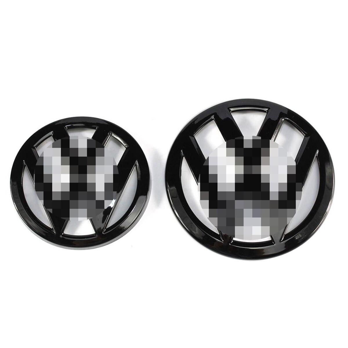Блестящий черный высококачественный автомобильный значок 138 мм на переднюю решетку и Эмблема багажника 110 мм для VW Volkswagen Golf MK7, 2 шт.